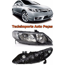 Farol New Civic Ano 2006 2007 2008 2009 2010 2011 Honda L/d