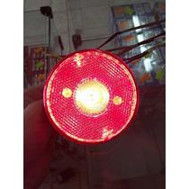 Lanterna Universal Adaptação Vermelha Redonda - Pé Prod Auto