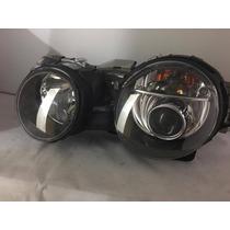 Farol Jaguar S Type Mascara Negra Com Xenon Esquerdo