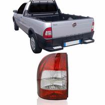 Lanterna Traseira Fiat Strada 2005 Até 2007 Bicolor Flex