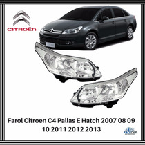Farol Citroen C4 Pallas Hatch 07 08 09 10 11 12 13 Original