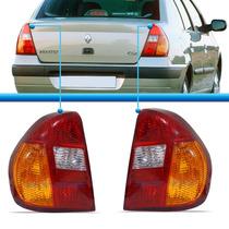 Par Lanterna Traseira Clio Sedan 2001 2002 Tricolor