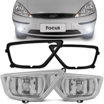 Farol De Milha Focus Hatch Sedan + Aros Pretos 2004 A 2007