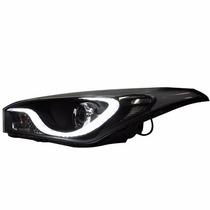 Farol Hyundai Hb20 Mascara Negra C Barra Led + Xenon O Par