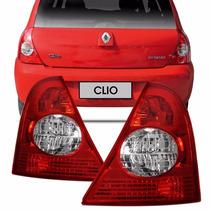 Par Lanterna Traseira Clio Hatch 03 04 05 A 09 10 Acrilico