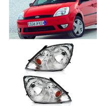 Farol Ford Fiesta 2003 04 05 06 07 08 Par