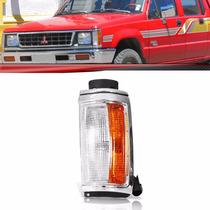 Lanterna Dianteira Pisca L200 92 Até 2003 Moldura Cromada