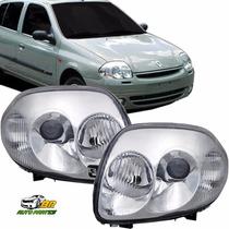 Farol Renault Clio Foco Duplo 2000 2001 2002 O Par