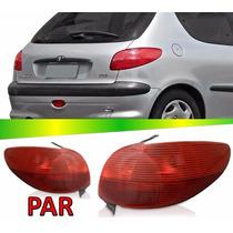 Par Lanterna Traseira Peugeot 206 1998 1999 2000 2001 2002
