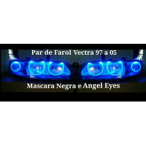 Par De Farol Do Vectra 97 A 05 Máscara Negra E Angel Eyes