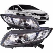 Farol Honda New Civic 2013 2014 2015 2016 Lado Esquerdo