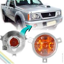 Lanterna Seta Parachoque L200 2001 2002 2003 2004 Cristal
