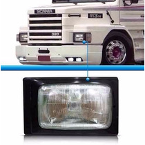 Moldura Farol Scania 112/113 Preta Em Metal