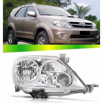 Farol Toyota Hilux Sw4 Cromado 2005 2006 2007 2008