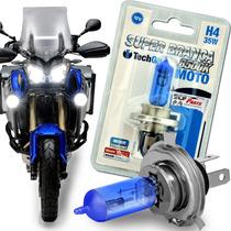 Lampada Super Branca Moto H4 8500k Tech One 12v Luz 35w