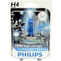 Lâmpada H4 Philips Crystalvision Moto H4 35/35w 4300k