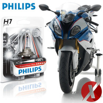 Lâmpada H7 Philips X-treme Vision Moto P/ Farol Bmw S 1000rr