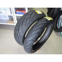 Pneu Para Moto Pirelli Angel Gt 120/70 Zr17 + 190/55 Zr17