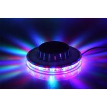 Disco Led 8w 48 Leds Rgb Bola Maluca Laser Colorido Rotativo