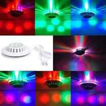 Disco D Led Bola Maluca Colorido 48 Leds Festa Baile Balada!