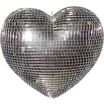 Coração Espelhado 40cm Tipo Globo Giratório Festas Eventos