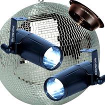 Kit Profis Skyshow = Globo Espelhado + 2 Canhões Led + Motor