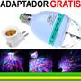 Kit 5 Globo Holográfico Led Rgb Giratório Bola Maluca Festa