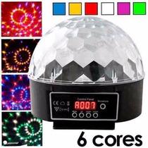 Bola Maluca Led 6 Cores 20w Holográfico Strobo Rítmico Dmx