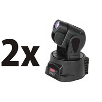 Kit 2 Mini Moving Head Led Spot 15w Rgb Dmxefeitobeam, Strob