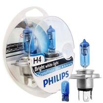 Lampada Super Branca Philips Crystal Vision H4 Original