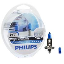 Lâmpada Philips Crystal Vision Ultra H1 Super Branca - Par