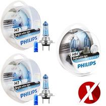 Kit Lampadas Jetta Crystal Philips H7 + H7 + Hb4 + Pingos