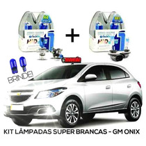 Kit Lâmpadas Super Brancas Tech One Gm Onix H4 + H27