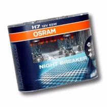 Lampada Branca H7 12v 55w Osram Night Breake Plus (par)