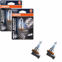 Lampada Osram Night Breaker Unlimited H11 Par Farol 110+ Luz