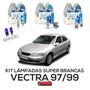 Kit Lâmpadas Super Brancas Tech One Vectra 97 98 99 H1 H7 H3