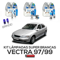 Kit Lâmpadas Super Brancas Tech One Vectra 97 98 99 H1 H7 H3