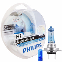 Lampada Crystal Vision H7 Philips 4300k Super Branca Cristal