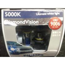 Par Lâmpada Hb4 Philips 5000k Diamond Vision,
