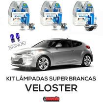 Kit Lâmpadas Super Brancas Tech One Veloster H7 + H7 + H27