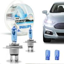 Lâmpada H4 Philips Crystal Vision Ultra Super Branca + Pingo