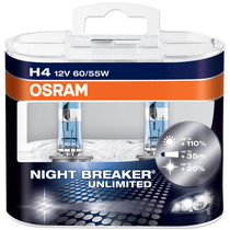 Kit Lâmpadas H4 + Hb4 Osram Night Breaker Unlimited