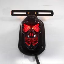 Lanterna Freio Skull Caveira Preto Custom Chopper Triciclo