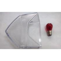 Lente Lanterna Cb300/xre300 Cristal + Lâmpada Freio Vermelha