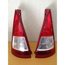 Lanterna Citroen C3 07 A 09 Traseira Bicolor Branco