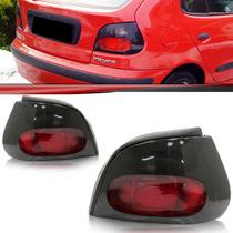 Lanterna Traseira Renault Megane Hatch 96 97 98 99 Fumê