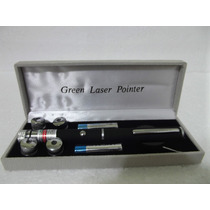 Caneta Laser Pointer Verde 1000mw +5 Pontas+ Estojo+completo