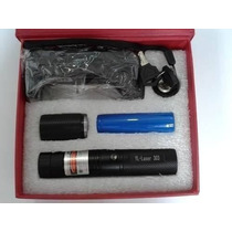Super Caneta Laser Pointer Verde 10000mw Ultra Forte + Kit