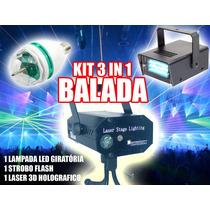 Kit Festa Iluminação Dj Balada Bola Maluca Led Strobo Laser