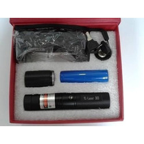 Super Caneta Laser Pointer Verde 20000mw Ultra Forte + Kit